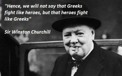 Churchill about the Greeks